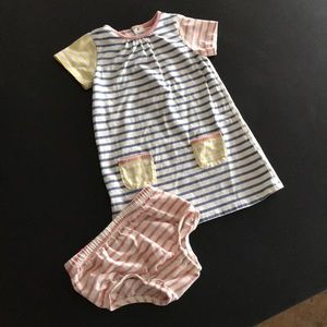 Baby boden dress with bloomers